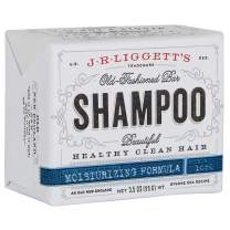 J·R·LIGGETT'S All-Natural Shampoo Bar, Moisturizing Formula, Supports Strong and Healthy Hair - Nourish Follicles with Antioxidants and Vitamins - Detergent and No Sulfate, One 3.5 Ounce Bar