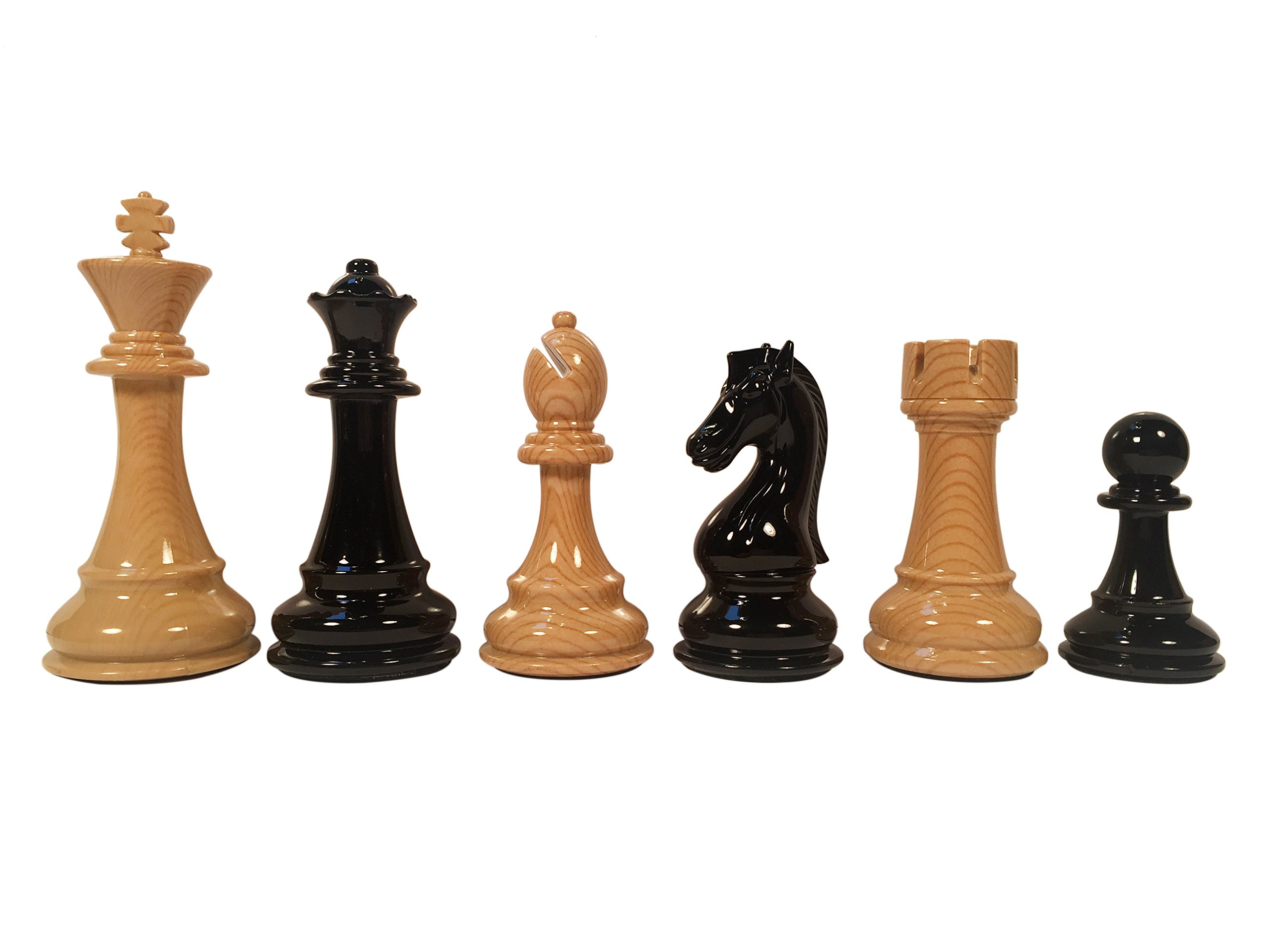 The Bobby Fischer Series Faux Wood Chess Pieces – 4.25 inch King by WE Games