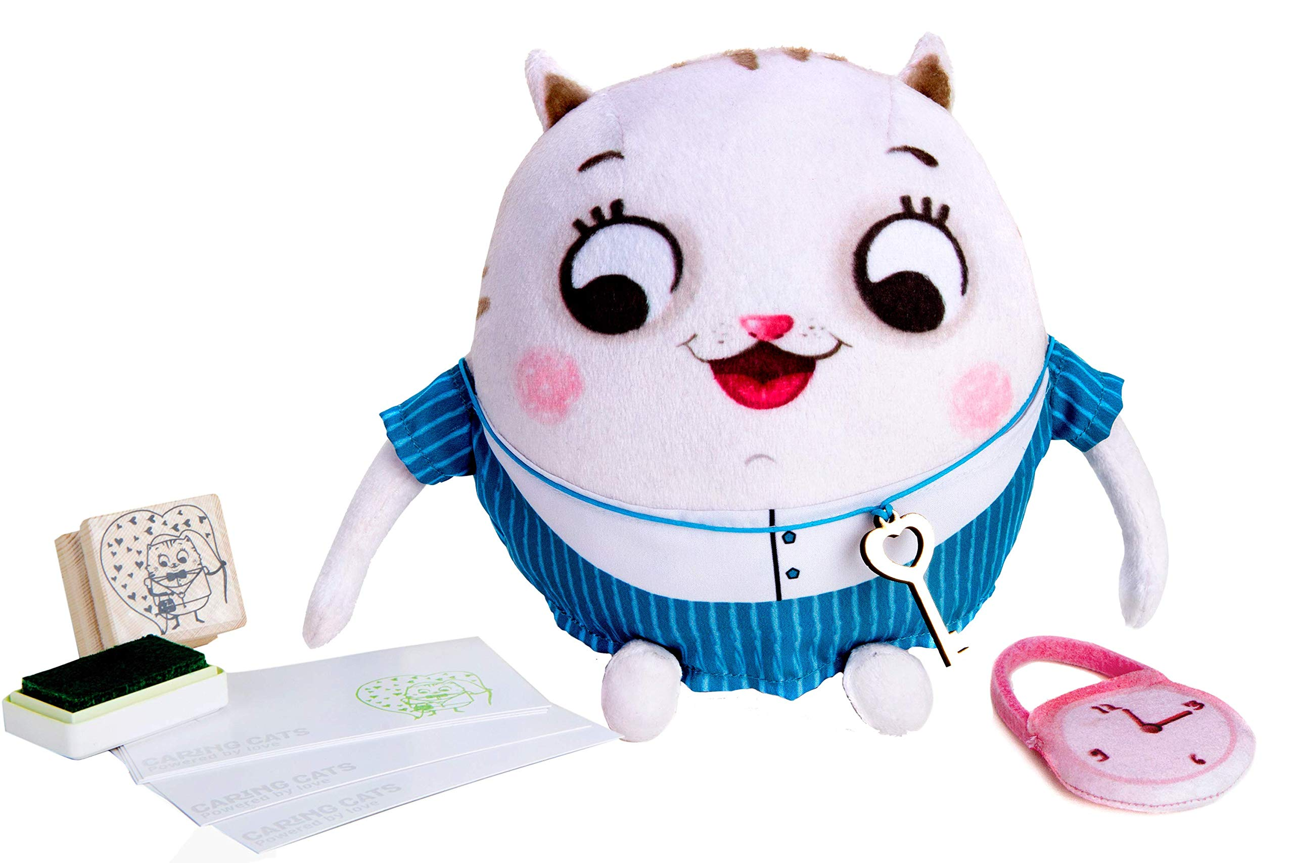 Chalk and Chuckles Helpfilli Cat Plush Toy - Stuffed Animal Toys and Gift Plushies to Teach Kindness and Emotional Skills for Girls and Boys…