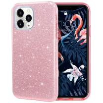 MILPROX iPhone 11 Pro Case, Bling Sparkly Glitter Luxury Shiny Spark Shell, Protective 3 Layer Hybrid Anti-Slick Slim Soft Cover for iPhone 11 Pro 5.8 inch (2019) -Pink