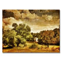 Old Farm House by Lois Bryan, 18x24-Inch Canvas Wall Art
