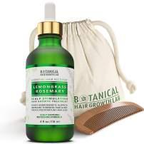 Anti Hair Loss Scalp Treatment Alopecia Postpartum DHT Blocker Lemongrass - Rosemary Hair Growth Botanical Pre-shampoo Organic Hair Growth Oil For Hair Thinning Prevention 4 Fl Oz