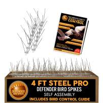 Defender Bird Spikes | Pro Wide Stainless Steel | 4 Feet | Self-Assembly Kit | Info Guide
