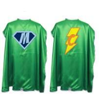 Everfan Personalized Superhero Capes for Kids   Custom Child Super Hero Cape   Cape Costume for Children   Polyester Satin