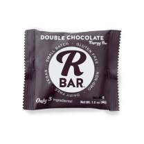 RBar Whole Food Double Chocolate Energy Bar - Chewy Dairy & Gluten Free Snacks, Vegan Protein Bar Rich Soft - 3 Healthy Ingredients (10 Pack) …
