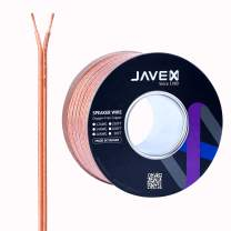 JAVEX Speaker Wire 12-Gauge AWG [Oxygen-Free Copper 99.9%] Cable for Hi-Fi Systems, Amplifiers, AV receivers and Car Audio Systems, 50FT