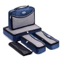 SoHo Travel 5 Piece Packing Travel Organizer Cube Set - Navy
