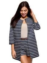 oodji Ultra Women's Buttoned Cotton Coat