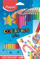 Maped Color'Peps Triangular Colored Pencils, Assorted Colors, Pack of 36 (832017ZV)