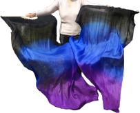 Winged Sirenny Adult 1.5m Belly Dance Worship Praise Silk Fan Veil Flag Streamer