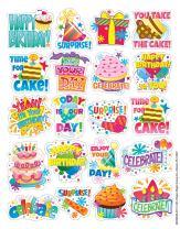 Eureka Birthday Stickers, Theme (655062)