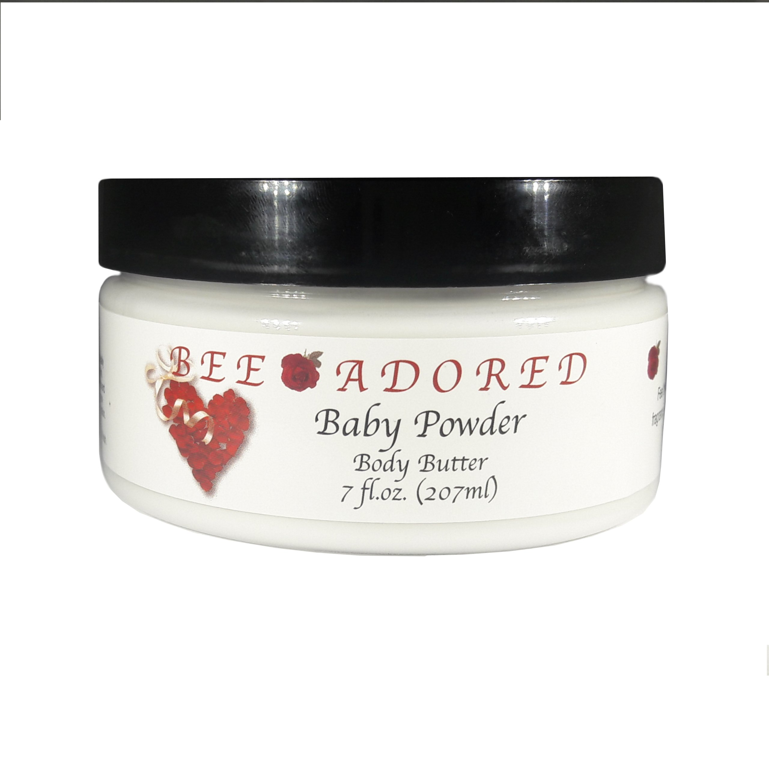 Bee Adored Body Butter, Baby Powder, 8 Fluid Ounce
