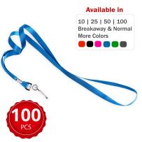Durably Woven Lanyards ~Premium Quality, Smoothly Finished for Skin-Friendly Comfort~ for Moms, Teachers, Tours, Events, Businesses, Cruises & More (100 Pack, Blue) by Stationery King