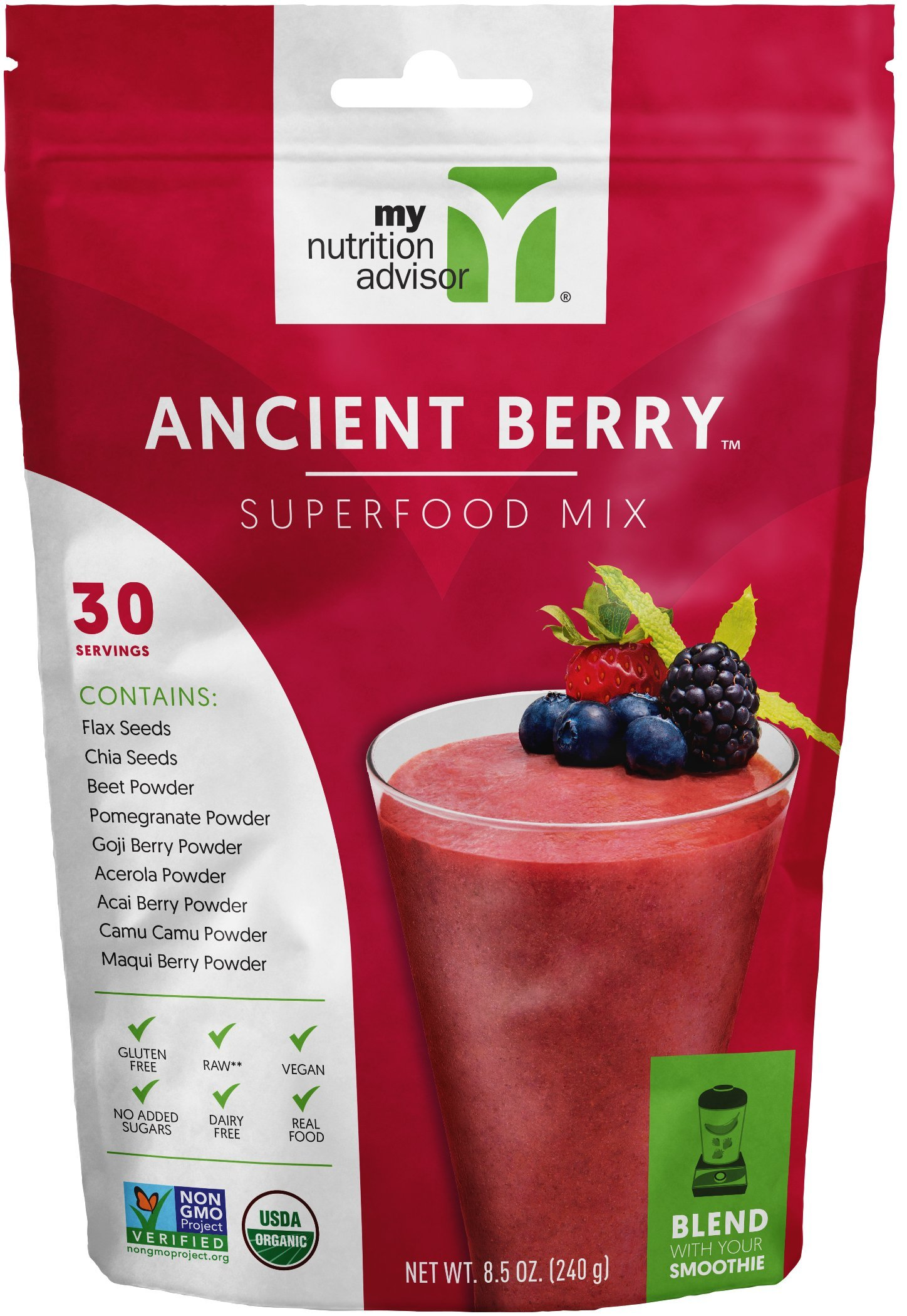 Ancient Berry Superfood Smoothie Mix (Powder) - 30 Servings   My Nutrition Advisor