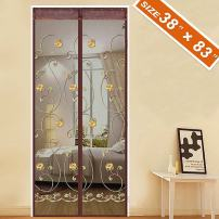 "Spritech [Embroider Flower Style] Door Screen Magnetic,Magic Front Door Bug Screen 38""X 83"" Fit Doors Size Up to 36""W X 82"" H Max with Full Frame Patio French Door Mesh"