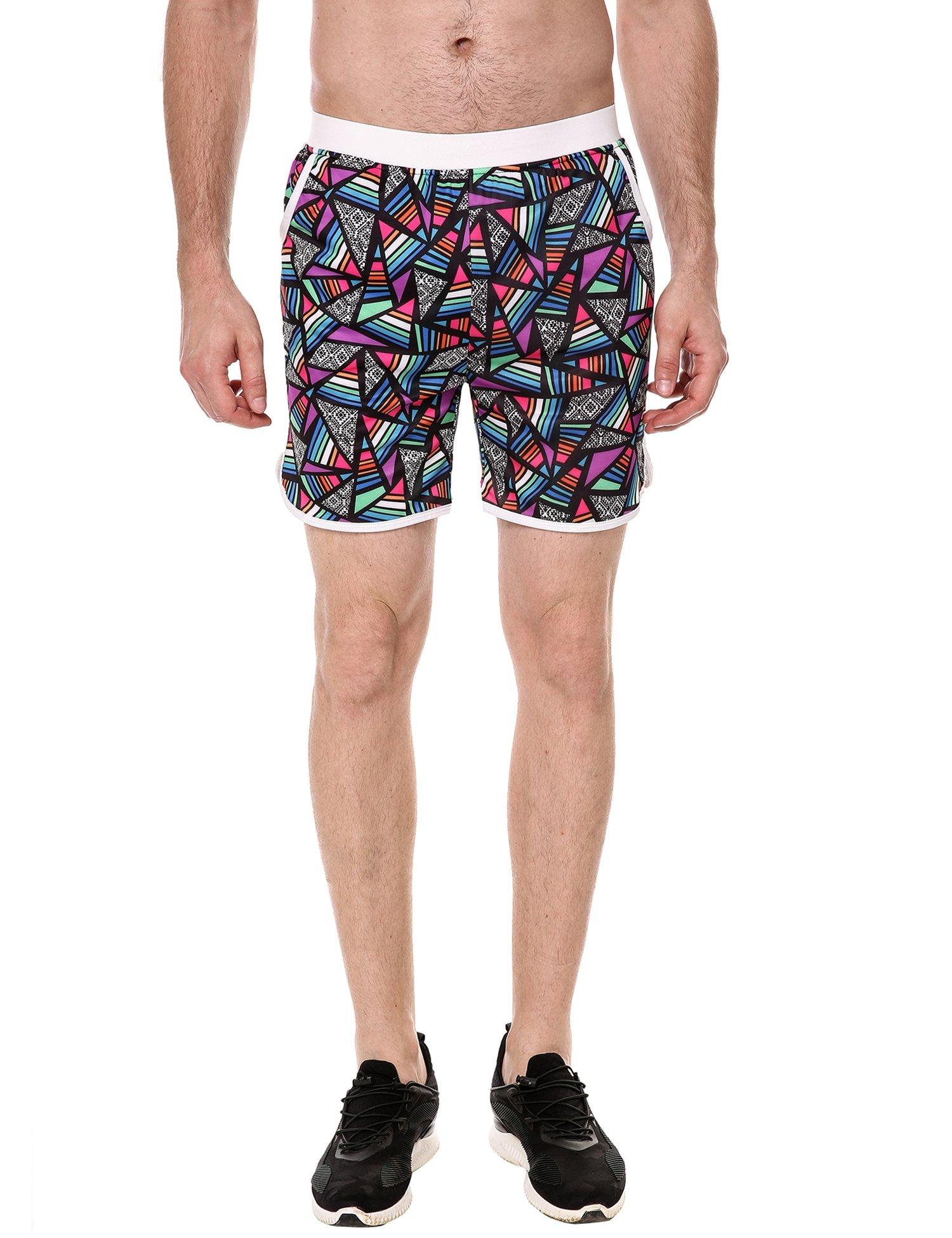 COOFANDY Men's Quick Dry Mid-Waisted Coconut Print Hawaiian Style Beach Shorts Swim Trunks (XXL, Print)