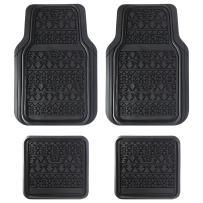 LUNNA FM-337E 4pc Aztec Black Rubber Floor Mat