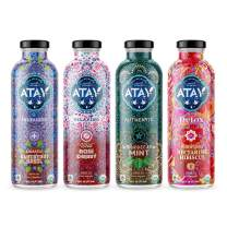 ATAY Moroccan Organic Iced Tea - Made With Organic Pure Green Tea And All-Natural Organic Stevia Leaf Extract For A Delicious and Subtle Sweet Flavor - 16 Oz, 8 Pack