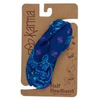 Karma Gifts Half Headband, Blue Bandana