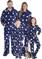 SleepytimePJs Matching Family Christmas Pajama Sets, Deer Footed Onesies