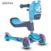 smarTrike T1 3-in-1 Toodler Scooter for Boys & Girls, Saftey Gear Included, for 1-3 Years Old Kids