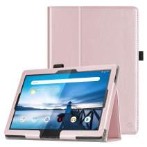 "Fintie Case for Lenovo Smart Tab M10 HD / P10 / M10 - Premium PU Leather Folio Cover for Lenovo Tab M10 HD TB-X505F TB-X505L / P10 TB-X705F TB-X705L / M10 TB-X605F 10.1"" Android Tablet, Rose Gold"