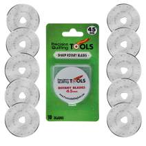 45mm Rotary Cutter Blades (Pack of 10) Compatible with Olfa, Truecut, Martelli, and More!