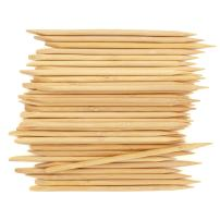 BambooMN Disposable Bamboo 15cm 5mm Nail Art Manicure Pedicure Sticks Cuticle Pushers Remover Tool, 1000 Pieces