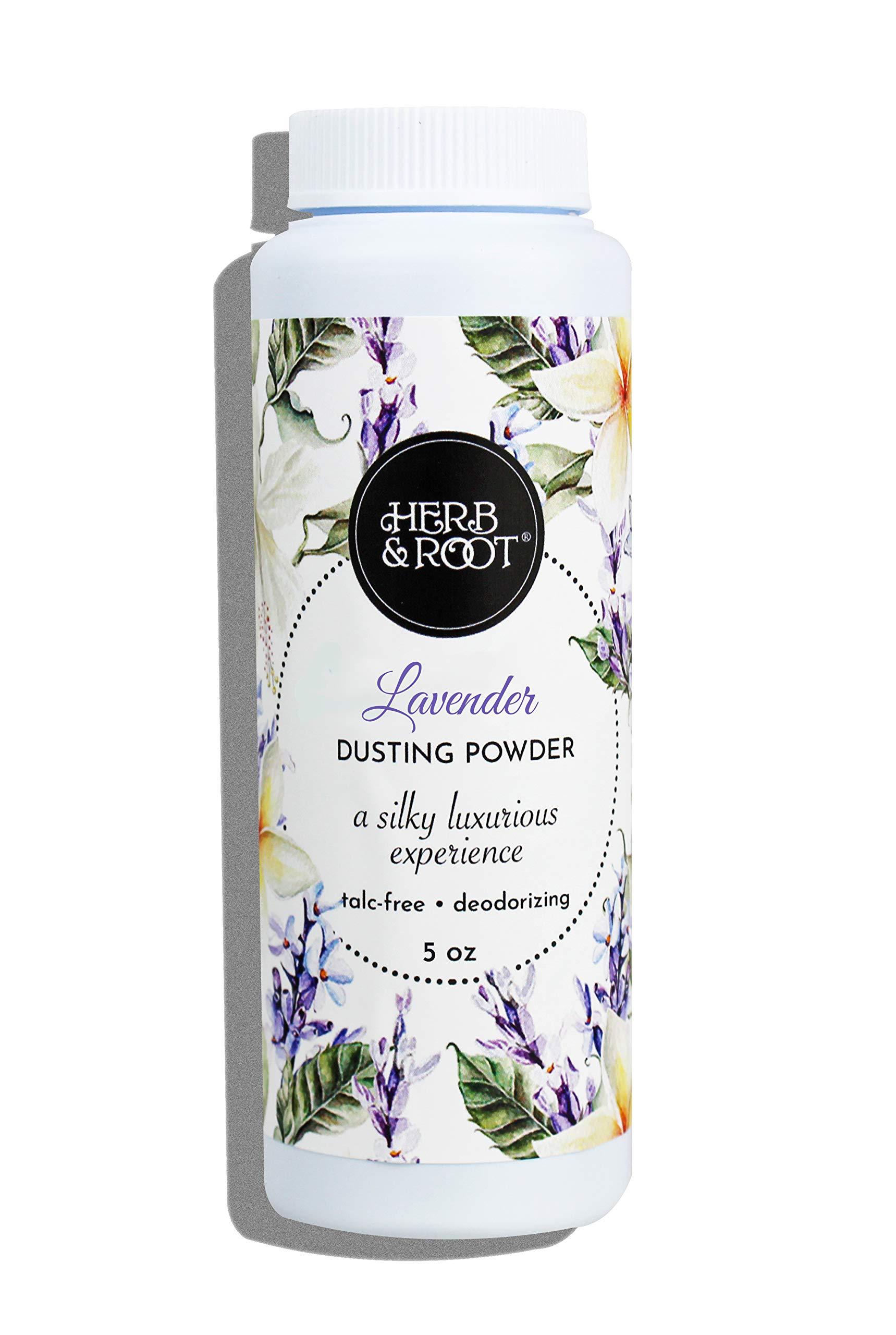 Lavender Body Dusting Powder Talc-Free for Women or Men | Herb & Root
