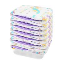 TEN@NIGHT Adult Baby Brief Diapers ABDL One time Incontinence Diaper 7 Pieces (Purple)