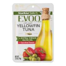 StarKist E.V.O.O. Yellowfin Tuna in Extra Virgin Olive Oil with Sun-Dried Tomato - 2.6 oz Pouch (Pack of 24)