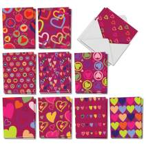 The Best Card Company - 20 Mother's Day Cards Bulk (4 x 5.12 Inch) - Loving Small Note Card Set - A Lot of Heart AM5652MDG-B2x10