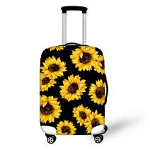 BIGCARJOB Travel Dust-proof Suitcase Cover Sunflower Print Clear Luggage Cover Protector Tsa Approved for 26-28inch