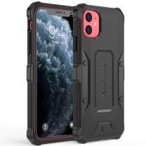 POWLAKEN Updated 2019 Version Compatible with iPhone 11 Case, Premium Hybrid Shockproof Protective Cover for iPhone 11 6.1 Inch (Black-Black)
