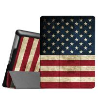Fintie Slimshell Case for iPad 2 3 4 (Old Model) - Lightweight Tri-Fold Smart Stand Cover Protector Supports Auto Wake/Sleep for iPad 4th Generation with Retina Display, iPad 3 & iPad 2, US Flag