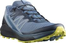Salomon Men's Sense Ride 4 Trail Running Shoe, Copen Blue/Black/Evening Primrose