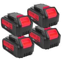 6.0Ah 20V for Dewalt 20v Battery,4pack Lithium-ion Replacement Battery for Dewalt dcb200 DCB204 DCB207 DCB205-2 DCB180 DCD985B DCD771C2 DCS355D1 DCD790B