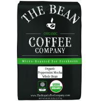 The Bean Coffee Company Organic Peppermint Mocha, Medium Roast, Whole Bean, 80 Ounce Bag