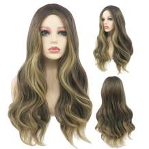 Peerless Heat Resistant Synthetic Wig 26 Inches Long Brown Wigs For Women Natural Looking Wavy Wigs Style For Girls Daily Use Makeup Costume Colored Wig Middle Part Wig With Natural Hairline