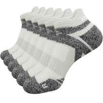Abida Cotton Ankle Socks Breathable Low Cut Casual Athletic Socks 6 Packs Multi-Color No Show for Men and Women