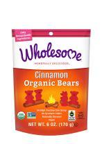 Wholesome Fair Trade Organic Cinnamon Bears, No Artificial Colors or High Fructose Corn Syrup, Non GMO & Gluten Free, Vegan, 6 Ounce (Pack of 6)