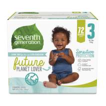 Seventh Generation Baby Diapers, Sensitive Protection, Size 3, 72 Count
