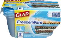 Glad BB15451 Food Storage Containers, 2 Count (Pack of 1), FreezerWare