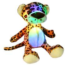 Athoinsu Light up Stuffed Cheetah Soft Plush Toy with LED Night Lights Glow Leopard Birthday for Kids Toddlers, 15.5''