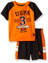 U.S. Polo Assn. Baby Boys Sleeve T-Shirt and Mesh Short Set