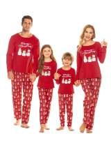 luxilooks Family Christmas Pajamas Matching PJs for Family and Couples Holiday PJs Long Sleeve Soft Cotton Sleepwear Set