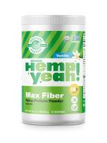 Manitoba Harvest Hemp Yeah! Organic Max Fiber Protein Powder, Vanilla, 16oz; with 10g of Fiber, 9g Protein and 1.9g Omegas 3&6 per Serving, Preservative Free, Non-GMO