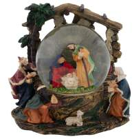 Elanze Designs Holy Family Nativity Musical 100MM Water Globe Plays Tune Silent Night