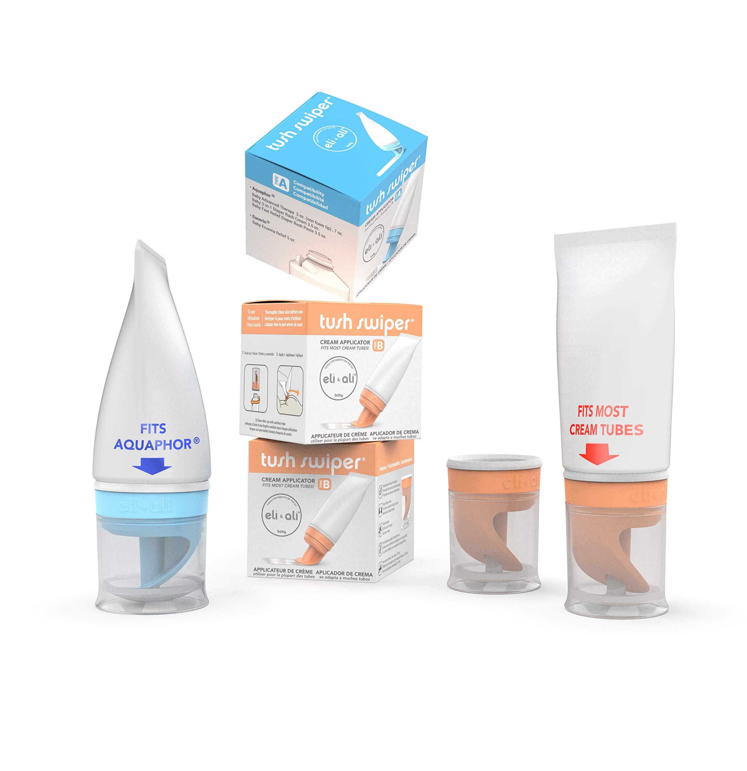 Tush Swiper Diaper Rash Cream Dispenser/Applicator - (3-Pack: Fits Aquaphor x1 + Fits Most x 2)