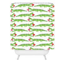 "Deny Designs Andi Bird Alligator Love Shower Curtain, 69"" x 72"""